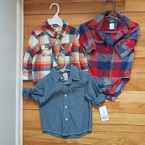Lot of boys button up shirts